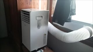 Installation and Review  Midea 3-in-1 Portable Air conditioner Electronic Controls with Remote