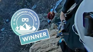 Climbing High Exposure in the Gunks in 360 | VR Filmmakers Challenge