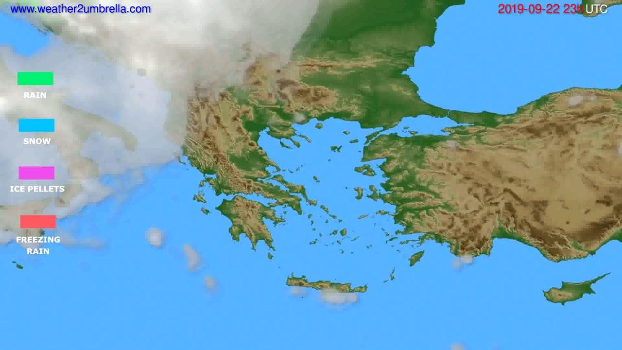 Precipitation forecast Greece // modelrun: 12h UTC 2019-09-19