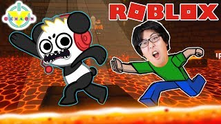 RYAN'S DADDY ESCAPES THE DUNGEON WITH COMBO PANDA IN ROBLOX! Let's Play Roblox