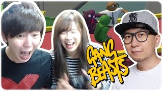 夾攻大J!我要報2年前既仇!!笑死啦救命啊!!►Gang Beasts EP3 ∥ Ft. Jason Hidy  [Hins Plays]