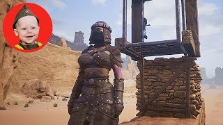 Conan Exiles (2018 PS4): Horizontal Elevator (Cable Car) Test