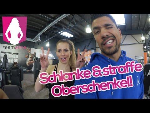 Schlanke & straffe Oberschenkel! Alinas Beinworkout im Gym - Training für Frauen | www.size-zero.de