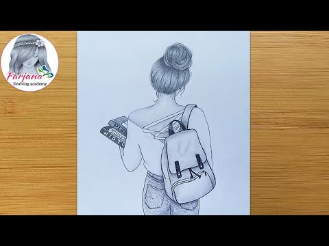 Farjana Drawing Academy - How to draw a girl face ...