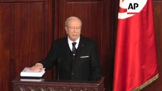 Beji Caid Essebsi Is Sworn In As The New President Of Tunisia
