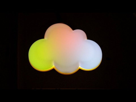 Cloud-light conversion to RGB LEDs.  (One-off horrible audio test.)