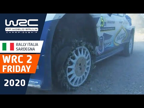 WRC2 ラリー・イタリア・サルディニア 金曜日に行われたラリーのハイライト動画