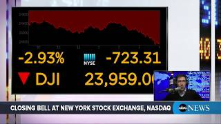 Dow Jones Industrial Average closes down 724 points   ABC News