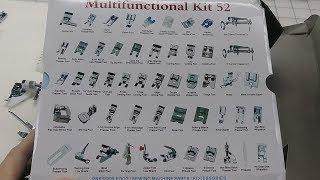 52 Piece Pressure Foot Kit: Part 1 Identification