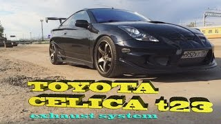 Welding exhaust with Helmholtz resonator for Toyota Celica T23