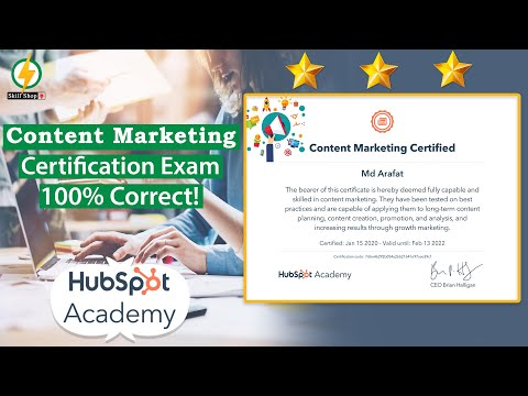 Content Marketing Certified Exam Answers 2020 | HubSpot ...