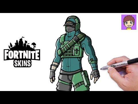 Como Dibujar Skin De Fortnite Dibujos De Fortnite Paso A Paso