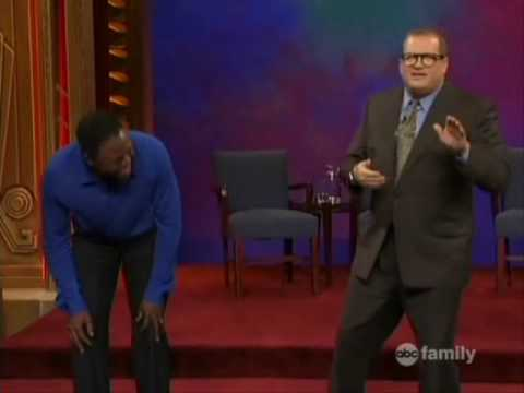 The only time I've seen Drew hold his own on Whose Line Is It Anyways