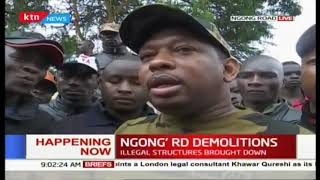Governor Sonko: I didn't know about the Ngong Road demolitions