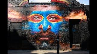 LONDON Walk TOUR - BRICK LANE Street ART from Shoreditch High Street Station - England