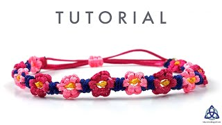 EASY Flower Bracelet DIY - Macrame Tutorial