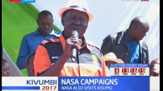 NASA campaigns : Raila Odinga addresses residents of Kakamega