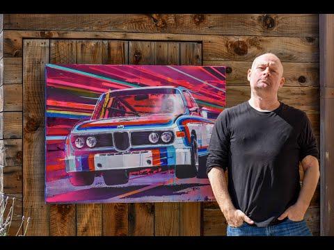 Ex-Head of Design for Hot Wheels, Felix Holst, BMW CSL Artwork Interview