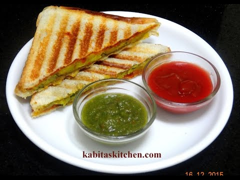 Aloo Bharta Sandwich Recipe-Grilled Potato Sandwich-Potato Sandwich recipe-Indian Breakfast Recipe