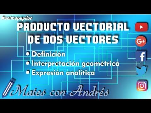 Producto vectorial de dos vectores: definición, expresión analítica e interpretación geométrica