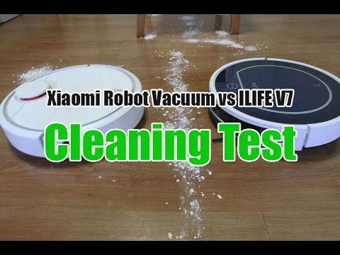Xiaomi Robot Vacuum vs ILIFE V7 Cleaning and Navigation Test