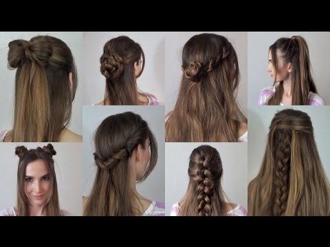 Простые прически за 2-5 минут на каждый день | с распущенными волосами. Часть 2