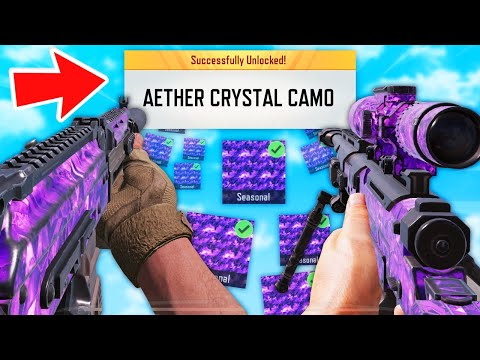 I UNLOCKED 3x AETHER CRYSTAL CAMOS in 1 GAME! (How To Get New Camo in COD Mobile)