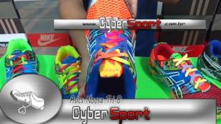 Tênis é na Cybersport - Asics Gel Noosa Tri Azul Verde 52305ab5bce04