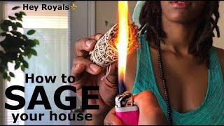 💨HOW TO SAGE YOUR HOUSE   WALK THROUGH   PRINCESS PLATINUMM