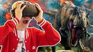 JURASSIC WORLD VR MOVIE EXPERIENCE!   Jurassic World: Blue (HTC Vive + Subpac Gameplay)