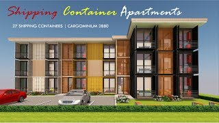 Shipping Container Apartments Design + Floor Plans 2019