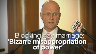 Legalising Gay Marriage 'about Doing What Is Right': Senator