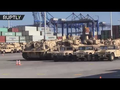 RAW: Vast amount of US military hardware arrives in Poland for NATO op