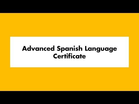 Advanced Spanish Language Certificate | UWM School of ...