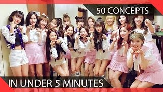 50 KPOP Girl Groups Do 50 Concepts in Under 5 Minutes