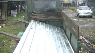 Гараж из металлолома. Крыша!