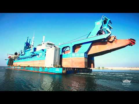 The Middle East's largest dredger – the cutter suction dredger (CSD) Hussein Tantawy – arrived