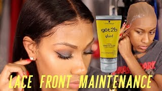 SECRETS REVEALED! LACE FRONTAL WIG MAINTENANCE AND INSTALL! NO GLUE