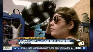 Woman recovers $8,000 left in Goodwill donation