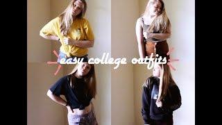 EASY COLLEGE OUTFITS (Collab w/ Lauren Trivison) | Alyssa Michelle - Video Youtube