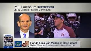 Paul Finebaum on gators settling for 3rd choice Dan Mullen