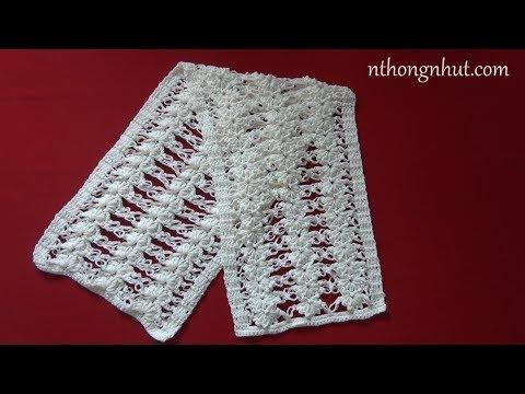Crochet  3D scarf tutorial (Eng sub) I Cách móc khăn len họa tiết kiểu 3D