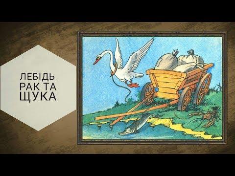 Лебідь, рак і щука - Глібов Леонід Іванович байка 3 клас