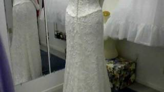 Romantic Long Sleeve Ivory Lace Wedding Dress, Vintage Gown Reminds Me Of Pippas Size 12 14