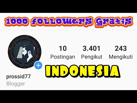 mp4 Followers Gratis Indonesia 1k, download Followers Gratis Indonesia 1k video klip Followers Gratis Indonesia 1k
