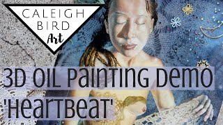 Oil Painting Demo 'The Sun, the Moon, and the Heartbeat In Between' - Layered Resin Painting