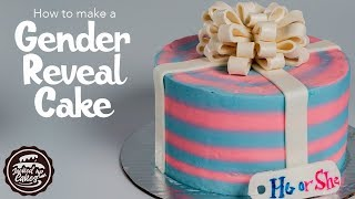 GENDER REVEAL PRESENT CAKE!! | Jacked Up Cakes With Jack Rogers