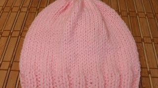 How to Knit a newborn baby's hat for beginners