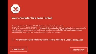 What to do about a red virus screen