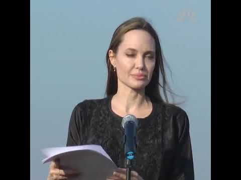 Angelina Jolie on Tuesday urges the Myanmar authorities to show the genuine commitment to end the cycle of violence, displacement, and improve the conditions for Rohingyas.